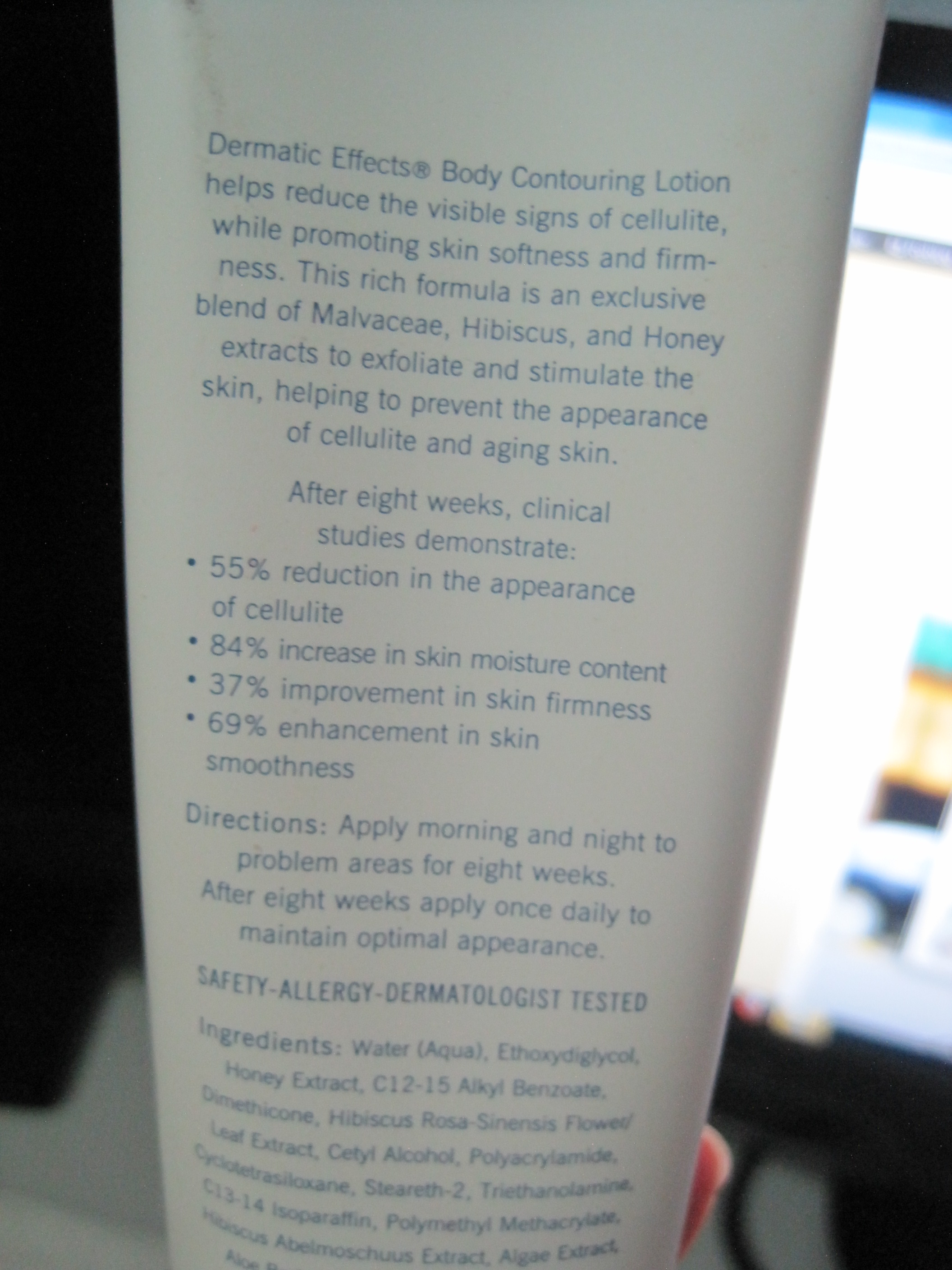 b9391ac83ce858 as i am lazy, i admit i did not put this body contouring lotion twice a day  as instructed. usually once a night before i sleep, followed by the  stockings. ...